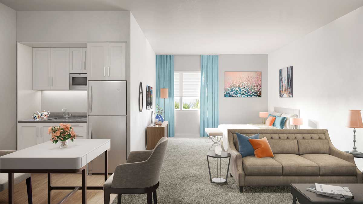 modern interior for a suite
