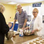 Seniors baking class at Kingsway Aurora Retirement Residence