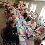 Seniors art class at Kingsway Aurora Retirement Residence