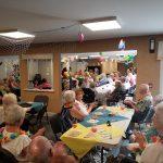 Hawaiian party at Kingsway Aurora Retirement Residence