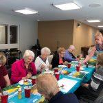 Art class at Kingsway Aurora Retirement Residence
