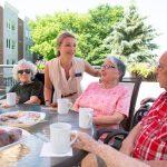 Enjoying the sun at Kingsway Aurora Retirement Residence