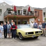 Car show at Kingsway Aurora Retirement Residence