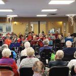 Christmas music at Kingsway Aurora Retirement Residence