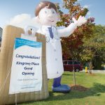 Ground opening sign at Kingsway Aurora Retirement Residence
